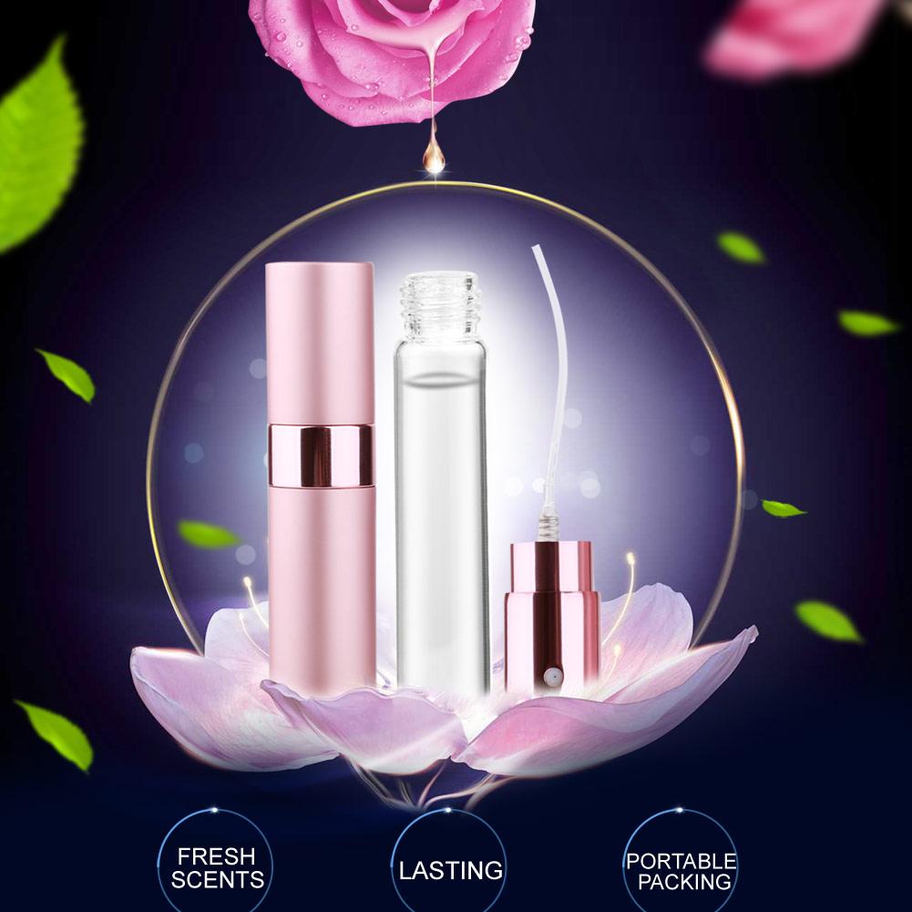 Fashion 8ml 3 Colors Women Atomizer Parfume Beautiful Package Female Parfum Lady Flower Fruit Fragrance Perfumes Long Lasting