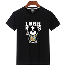 2019 Fashion Angry Bear Printed Men T Shirt Summer Big Size Funny Tops Short Sleeve Cotton O-Neck Tee T-shirt High Quality