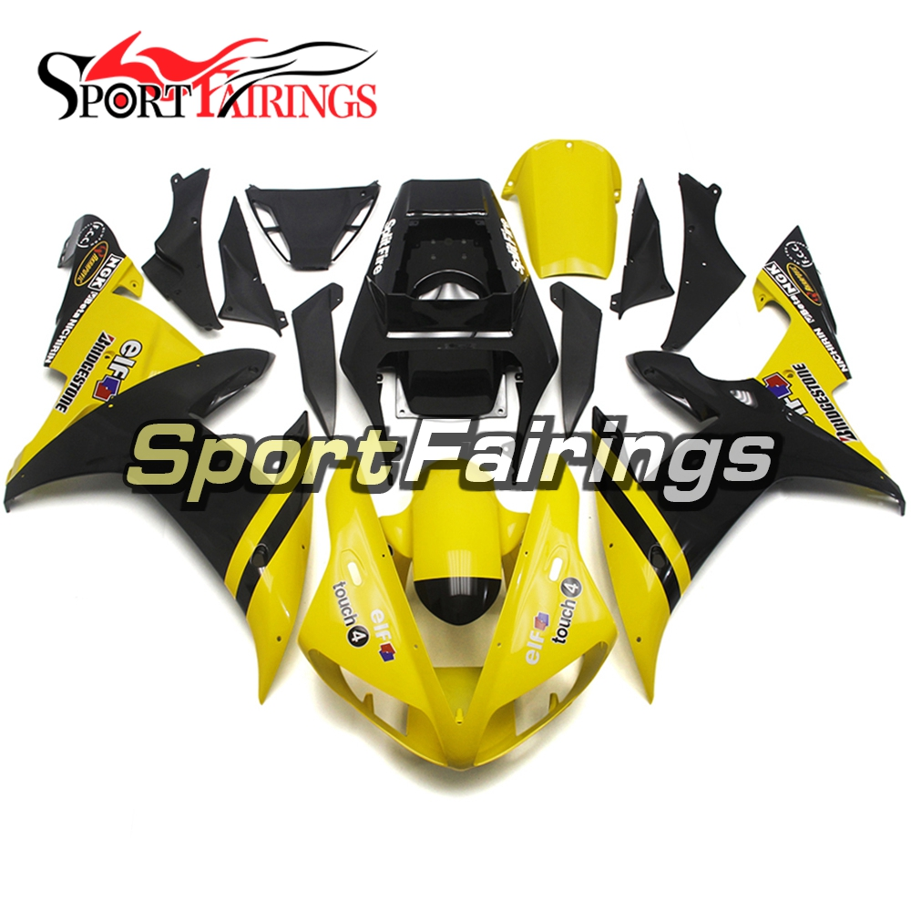 Yellow Black Motorcycle Fairings for Yamaha YZF1000 02 03 R1 2002 2003 Bodywork Sportbike Carenes ABS Plastic Injection Body Kit