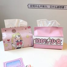 Tissue Paper Absorbent Paper Face Cute Boxes Home Paper Cover Decoration Cartoon Holder Car Pouch Box Unisex Girls New 3DZJE02(China)