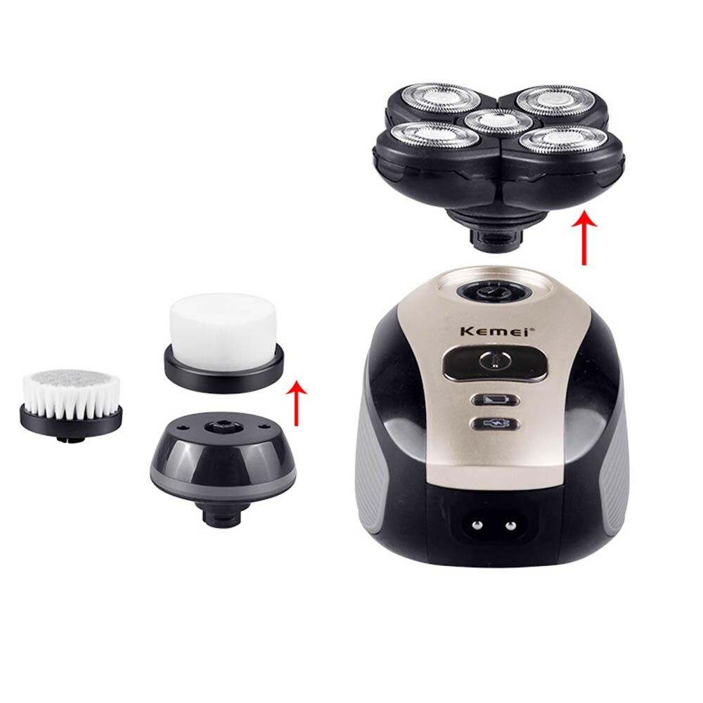 Kemei 5 en 1 électrique nez tondeuse rasoir hommes lavable 4D flottant lame tête rasage tondeuse à barbe rasoir nez coupe cheveux