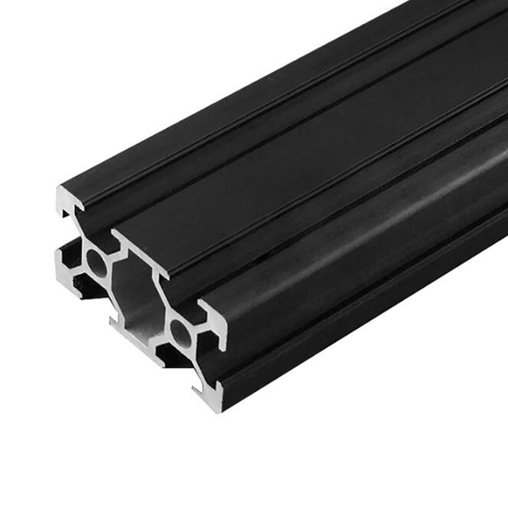 1 Stück Schwarz 2040 Europäischen Standard Eloxiert Aluminium Profil Extrusion 100-800mm Länge Linear Schiene Für Cnc 3d Drucker Eine GroßE Auswahl An Modellen