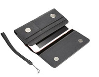 Horizontal Man Belt Clip Sports Artificial Mobile Phone Leather Case Card Pouch For ZTE Zmax Grand