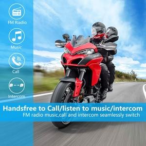 Image 5 - Fodsports 2 pcs FX8 אופנוע קסדת אינטרקום 8 רוכב 1000m קסדת Bluetooth אוזניות קבוצת אינטרקום Moto Intercomunicador FM