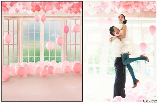 150x220cm Customize pink color balloons indoor wedding
