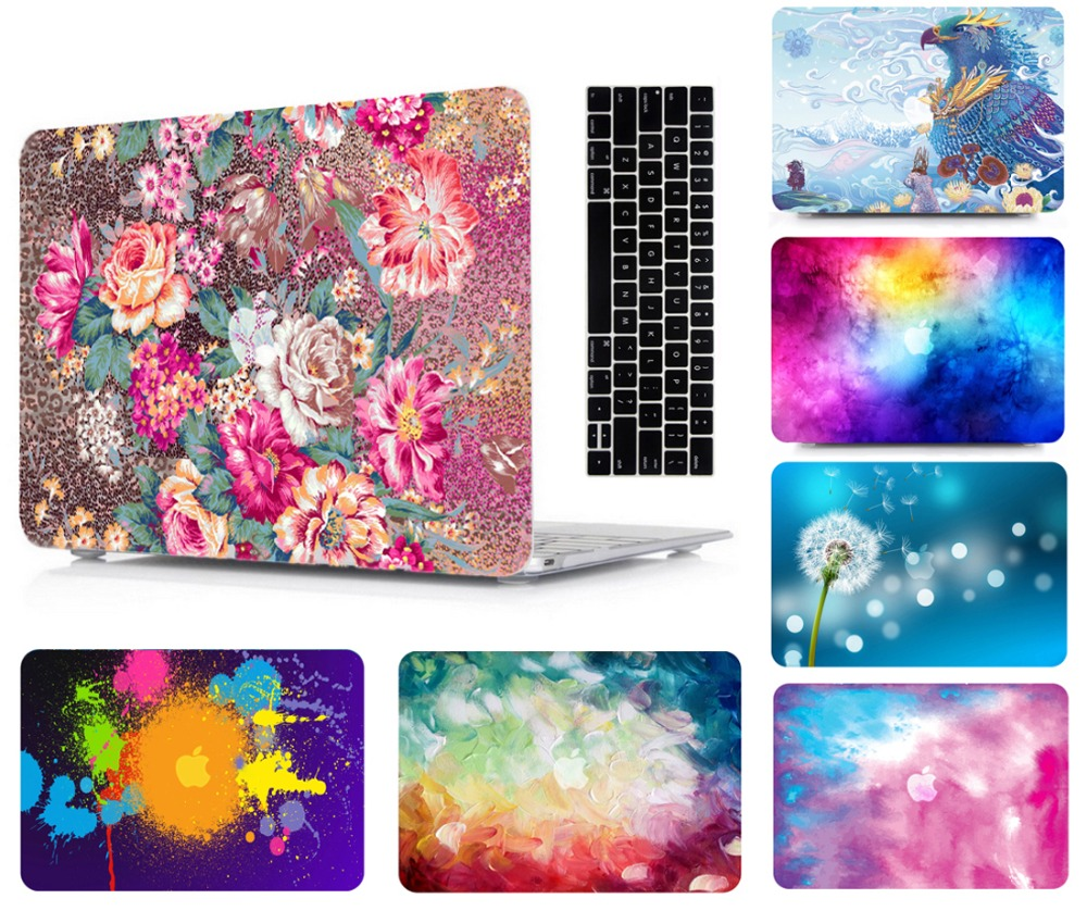 """Laptop Tablet Hard Shell Case Keyboard Cover Skin Bag For 13 15""""New 2019 Release Macbook Pro Touch Bar A1989 A1990 Air 11 13"""" HK"""