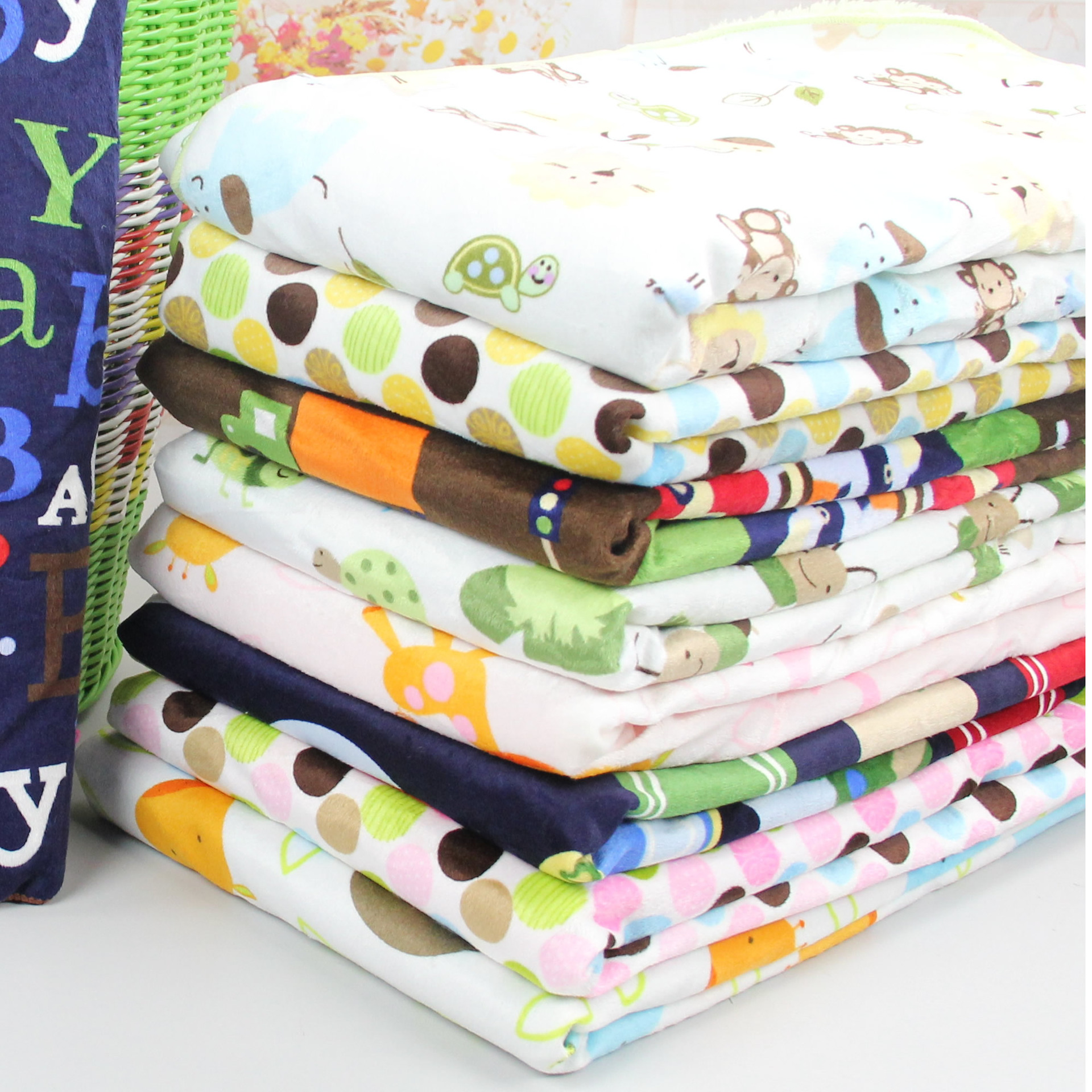 Super soft double padded baby blanket Short wool blanket