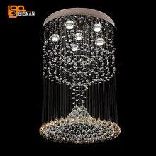 Neue Luxus Moderne Kristall Kronleuchter LED Leuchten Glanz Wohnzimmer Lampen