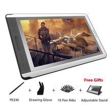 HUION KAMVAS GT-156HD V2 15,6 «графический монитор для рисования Full HD экран цифровая ручка планшет дисплей монитор с 8192 уровнями