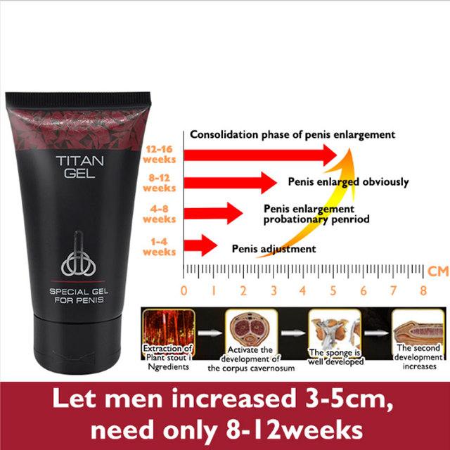 Big Dick Herbal Enlarge Penis Enlargement Cream Russian Titan Gel 50g, mens enhancer penis Thickening cock Sex Time Delay cream
