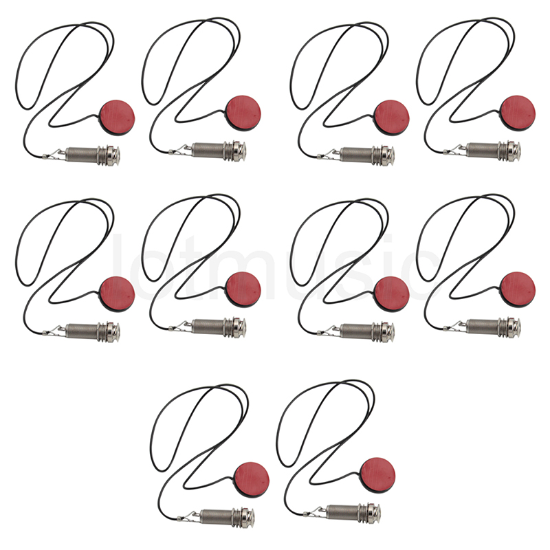 Single Head Passive Ukulele Pickup with Endpin Jack for Ukelele Uke Parts Chrome Pack of 10