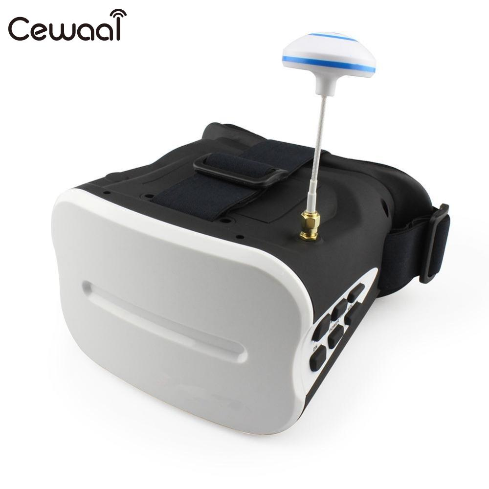 Cewaal KV-FPV-001 Vision Headset Goggles VR 5 Inch 5.8Ghz FPV Quadcopters Quad with Battery видеорегистратор ibang magic vision vr 530
