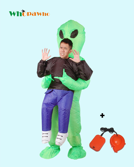 Scary Green Alien Cosplay Inflatable Monster Costume Halloween Costume for Adult Party Festival Stage Performance Cloth