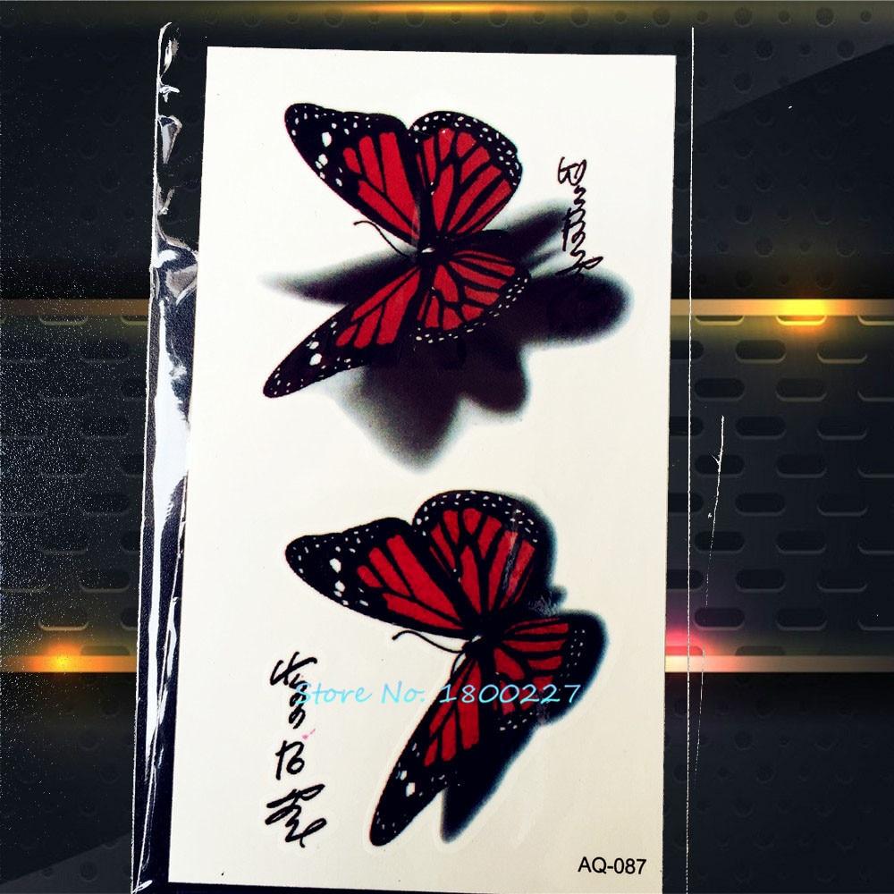 1PC 3D Design Butterfly Waterproof Tattoo Stickers PAQ-087 Sexy Women Butterfly Temporary Tattoo Paste Body Art Tattoo Lady