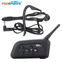 Fodsports 1pcs 1200M 4 User Talking Full Duplex Communication Headset For Football Referee Judge Motorcycle Wireless
