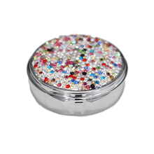 Diamond-studded Portable Jewelry Box Mini Stainless Steel Ring Earrings Bracelets Necklaces Medicine Gift Organizer Storage