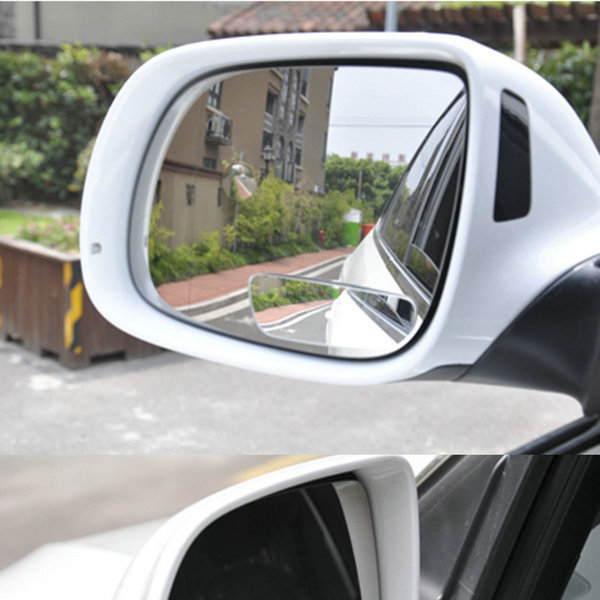 DEDC 2Pcs/Pair 360 Wide Angle Auto Side Convex Mirror Vehicle RearView Car Blind Spot Dead Zone Small Mirror car reversing auxiliary mirror car blind spot reversing rearview mirror support angle adjustment