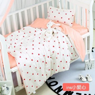 With Filling Pink strawberry Cotton Baby Cot Bedding Set Newborn Crib Bedding Detachable de berco de bebe,Duvet /Sheet/PillowWith Filling Pink strawberry Cotton Baby Cot Bedding Set Newborn Crib Bedding Detachable de berco de bebe,Duvet /Sheet/Pillow