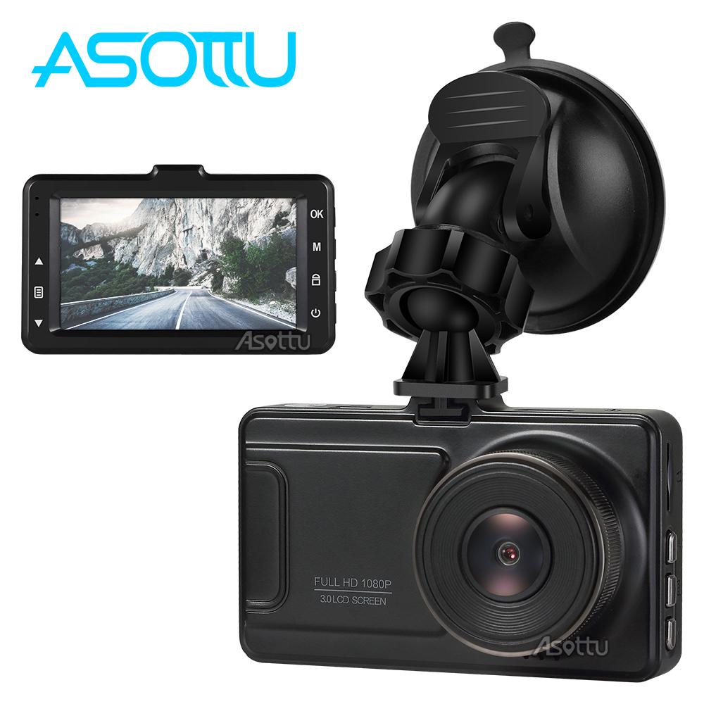 3 inch Car DVR 1080P FHD 170 Degree Wide Angle Dashboard Camcorder Black Box Screen Night