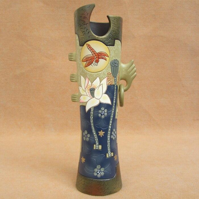 Lotos Dragonfly kreatywny prezent chiński ceramiczny chiny ozdoby rzemiosło wazon dekoracje stołu unikalny prezent prezent niespodzianka w Figurki i miniatury od Dom i ogród na AliExpress - 11.11_Double 11Singles' Day 1