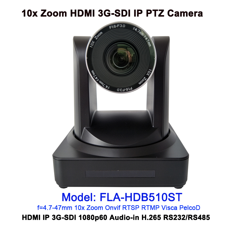 1/2.8'' Sensor 1080P60 10x Zoom HD IP PTZ Conference Camera HDMI 3G-SDI for Live Streaming video conferencing image
