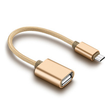 Micro USB 2.0 OTG Cáp Adapter Nam Micro USB cho Nữ USB cho Samsung S7 S6 Cạnh S4 S3, LG G4, DJI Spark Mavic Từ Xa