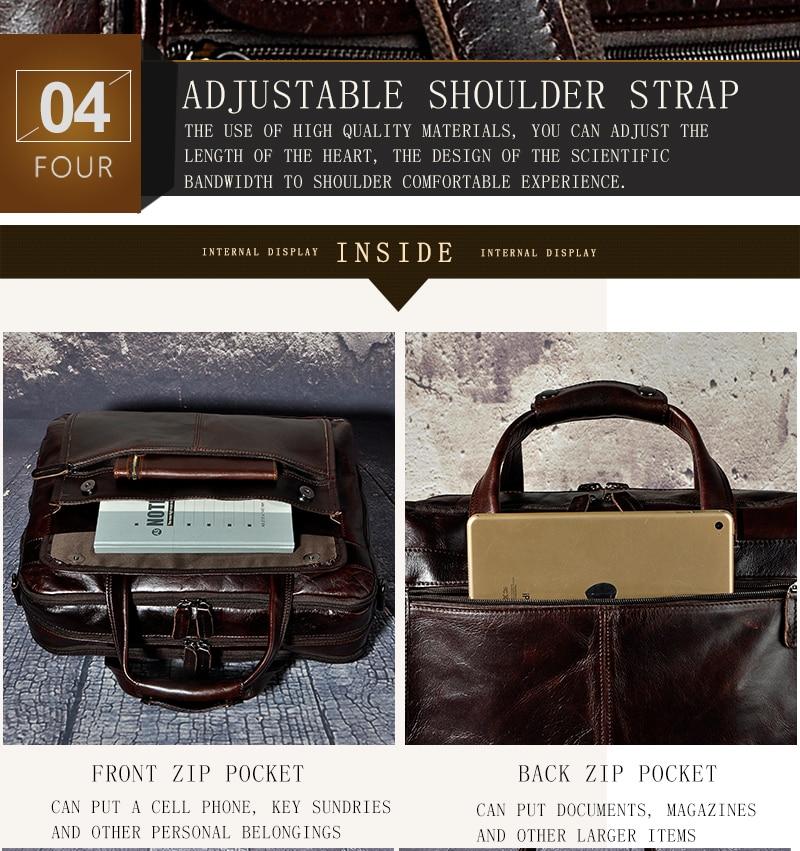 HTB1RbHIdcrI8KJjy0Fhq6zfnpXaG Men Oil Waxy Leather Antique Design Business Briefcase Laptop Document Case Fashion Attache Messenger Bag Tote Portfolio 7146