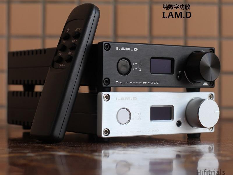 2019 New I.AM.D V200 Full Digital Audio Amplifier 150W*2 XMOS U208 USB 24Bit/192KHz Input USB/Optical/Coaxial/AUX OLED Display
