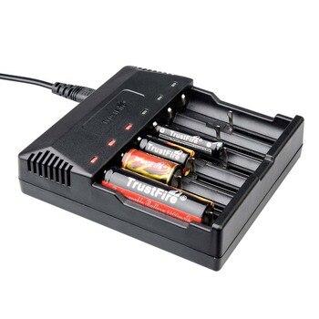 TrustFire TR-012 cargador de batería Li-Ion 3,7 V 18650, 14500, 14650, 1,2 V AA/AAA cargador de batería recargable 6 a ranuras