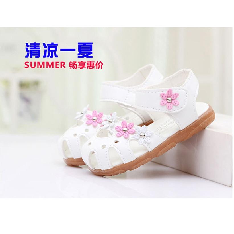 Sandalia Infantil 2016 Summer Zapatos Nina Floral Girls Sandały - Buty dziecięce - Zdjęcie 1