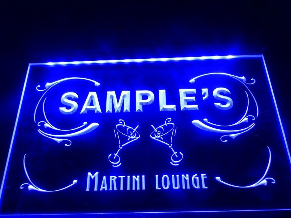 DZ069 Name Personalized Custom Martini Lounge Cocktails