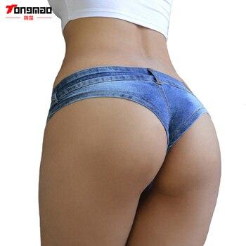 TONGMAO 2019 Summer New Womens Fashion Casual Low Waist Denim Triangular Short Sexy Exposed Hips Shorts Nightclub