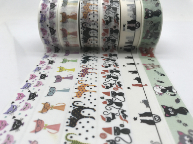Cat Adhesive Washi Tape
