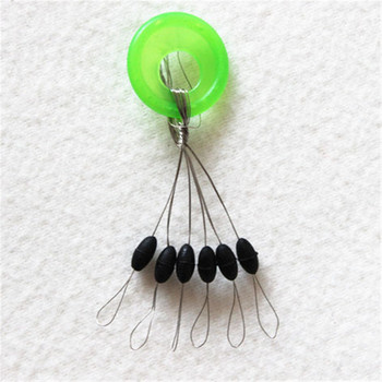 10 Group 60 PCS Green Rubber Stopper Fishing Line Resistance Fishing Equipment Beans Space Not To Hurt The Vertical Line Beans 1