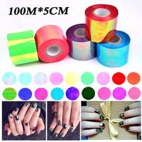 Free Fast Express 20rolls Wholesale 100M*5CM/roll Holographic Laser Broken Glass Nail Transfer Foils Stickers Decorations
