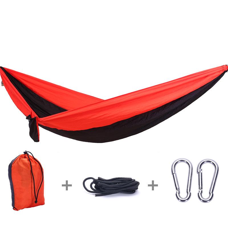 Strong Outdoor Picnic Garden Hammock Hang Bed Portable Travel Camping Swing Canvas Stripe Hang Bed Furniture Hammock
