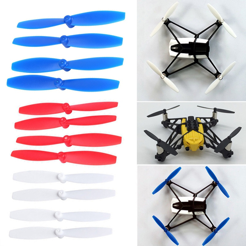 4Pcs/Set White/Red/Blue Plastic Propellers Props Blade Replacement For Parrot Minidrones Hydrofoil Drone