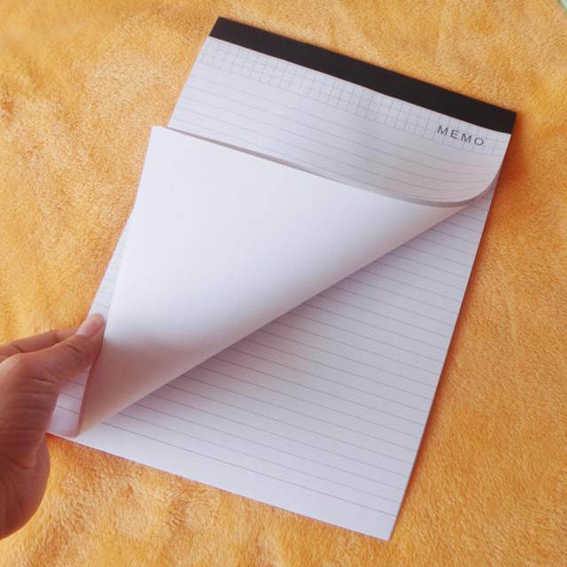 US $18 31 8% OFF|wholesale 5 pcs/lot high quality A4 memo pad 30 sheets  paper with lines office stationery note book-in Memo Pads from Office &  School