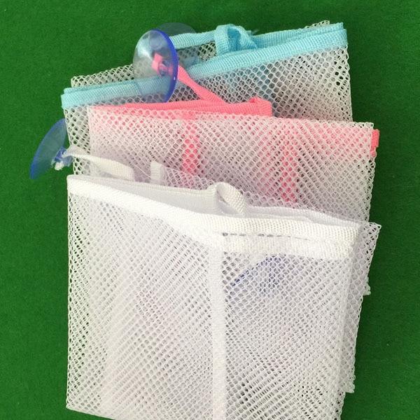 Kids Bath Tub Toy Bag Hanging Organizer Storage Bag Baby Bathing Accessories Eco-Friendly Baby Bathroom Mesh Bag 5