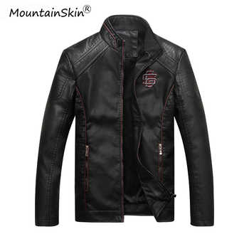 Mountainskin Men's Winter Autumn Casual Leather Jacket Fitness Motorcycle Faux Leather Bomber Jacket Male Outerwears LA766 - DISCOUNT ITEM  30% OFF All Category