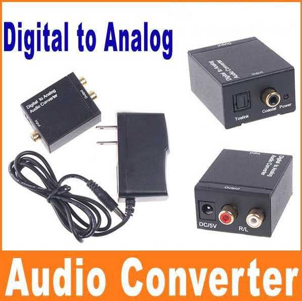 free shipping digital spdif optical to analog rca audio converter coaxial toslink digital audio. Black Bedroom Furniture Sets. Home Design Ideas