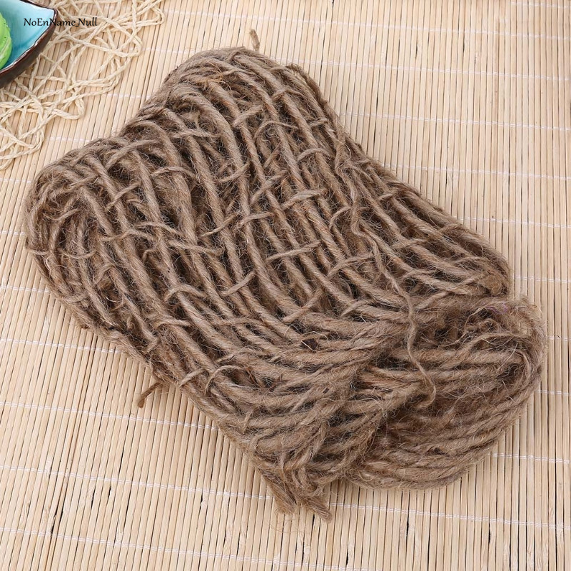 NoEnName-Null Newborn Photography Prop Chunky Burlap Layer Net Hessian Jute Backdrop Blanket