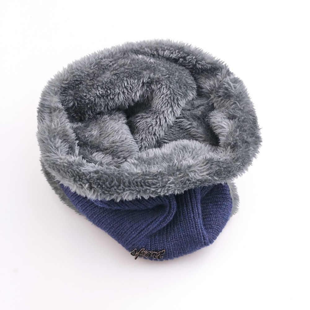 Jiangxihuitian Balaclava Gebreide Muts Sjaal Cap Halswarmer Winter Hoeden Voor Mannen Vrouwen Skullies Mutsen Warm Fleece Vader Cap