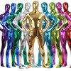 Metallic Spandex Bodysuit Lycra Shiny Catsuit Sexy Unisex Zentai Full Body Suit Costume Party Wet Look
