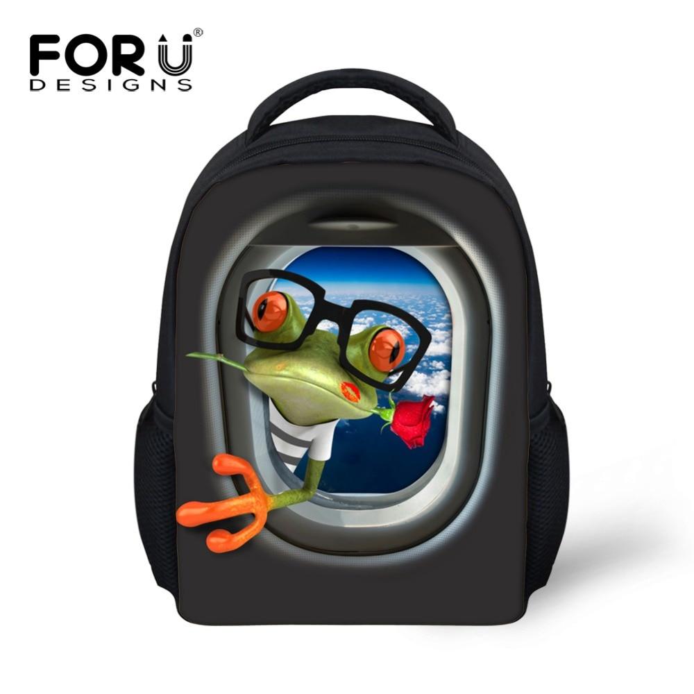 9aa90102636b Cartoon airplane frog Backpack Boys Girls School Bags Children Mochila  Infantil Kindergarten Schoolbags Backpacks Kids Bag 2016