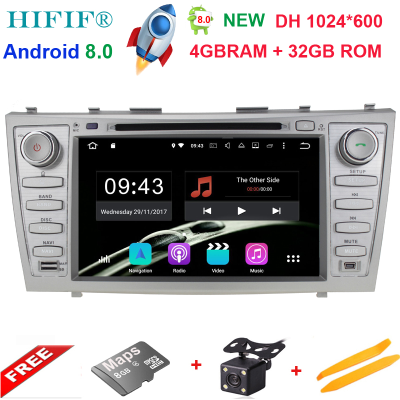 1024*600 2 Din Octa Core 8 Android 8.0 Car DVD GPS Navigation For Toyota Camry 2007 2008 2009 2010 Head Unit Car Stereo radio