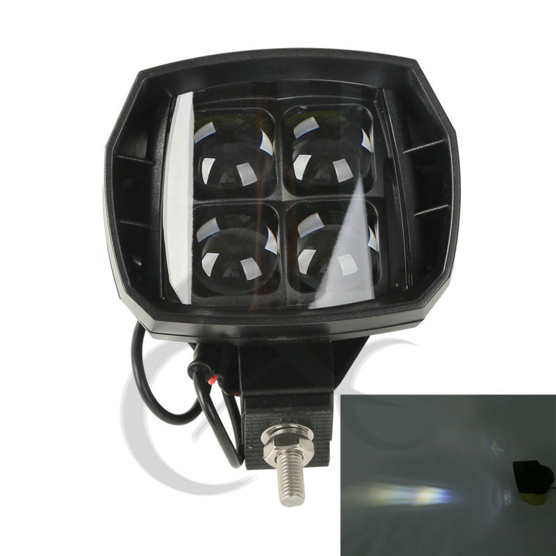 35W 12V LED High Beam WorkLight Lens For Kawasaki Yamaha Harley Honda Suzuki