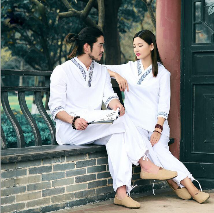 Nouvelle tenue de conception améliorée vêtements chinois coton lin chanvre Yoga costumes sports de plein air fitness veste + pantalon fabrication directe