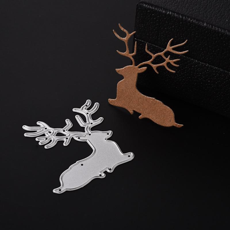 Sika Deer Metal Cutting Dies For DIY Scrapbook Album Xmas Decoration Paper Crafts Embossing Stencil Kids Cards Making Tool Mould