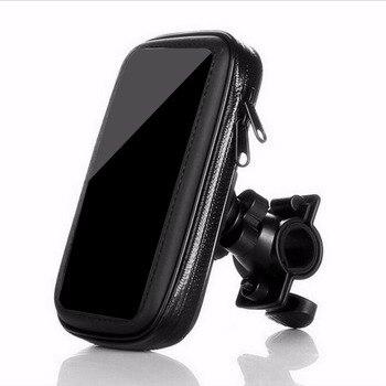 5.5 Inch Universal MTB Bicycle Bike Phone Holder Bag Case Waterproof Motorcycle Handlebar Bracket Mobile Phone Mount Case